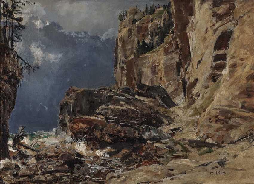 Bracht, Eugen. Rocky Mountain Landscape - photo 1