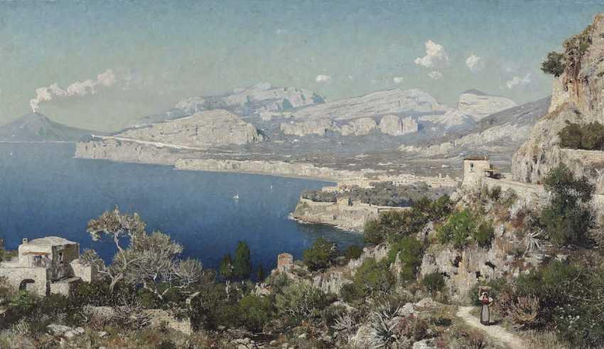 Berninger, Edmund. The coast of Sorrento with views of mount Vesuvius - photo 1