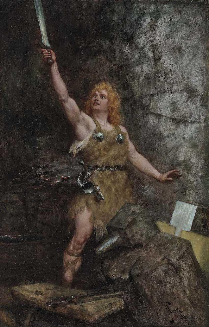 Leeke, Ferdinand. Siegfried with the sword - photo 1