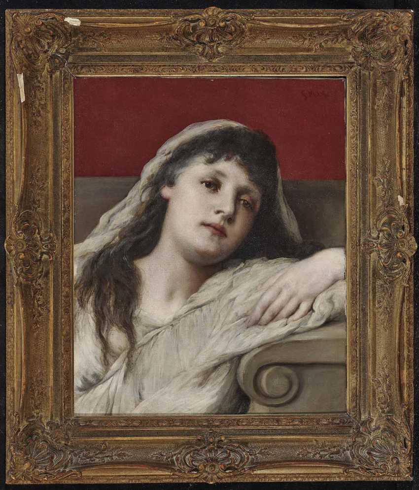 Max, Gabriel von. Portrait of a young woman - photo 2