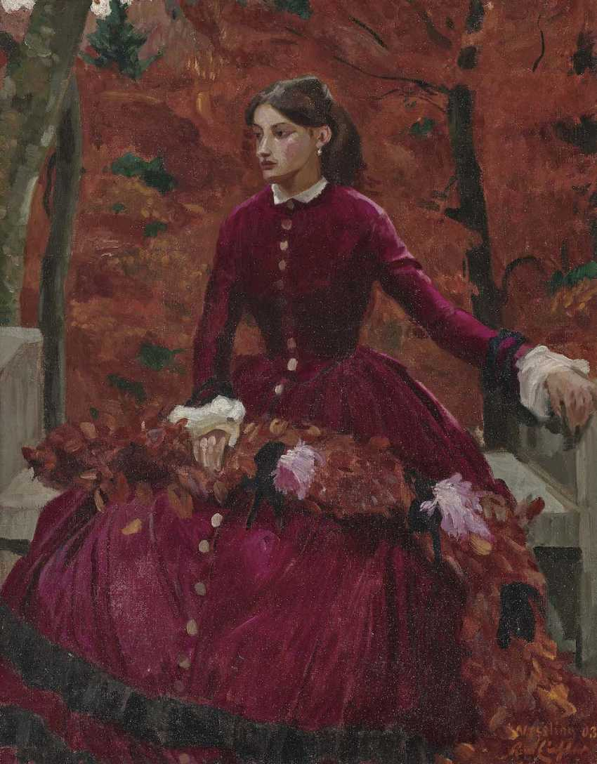 Eichler, Reinhold Max. Lady in Red - photo 1