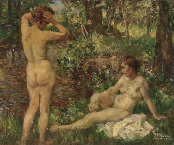 Paede Paul. Two bathers at a forest stream - photo 1