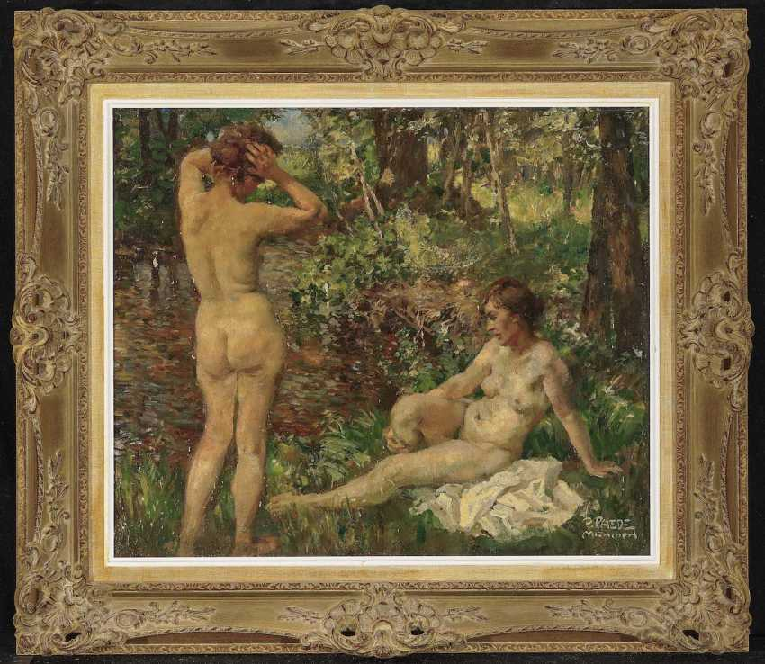 Paede Paul. Two bathers at a forest stream - photo 2