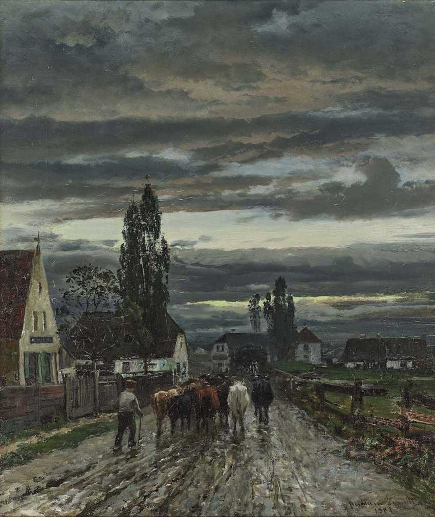 Andersen-Lundby, Anders. Street scene in Landsberg am Lech - photo 1