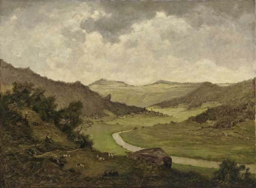 Gradl, Hermann. Franconian landscape with goatherd - photo 1