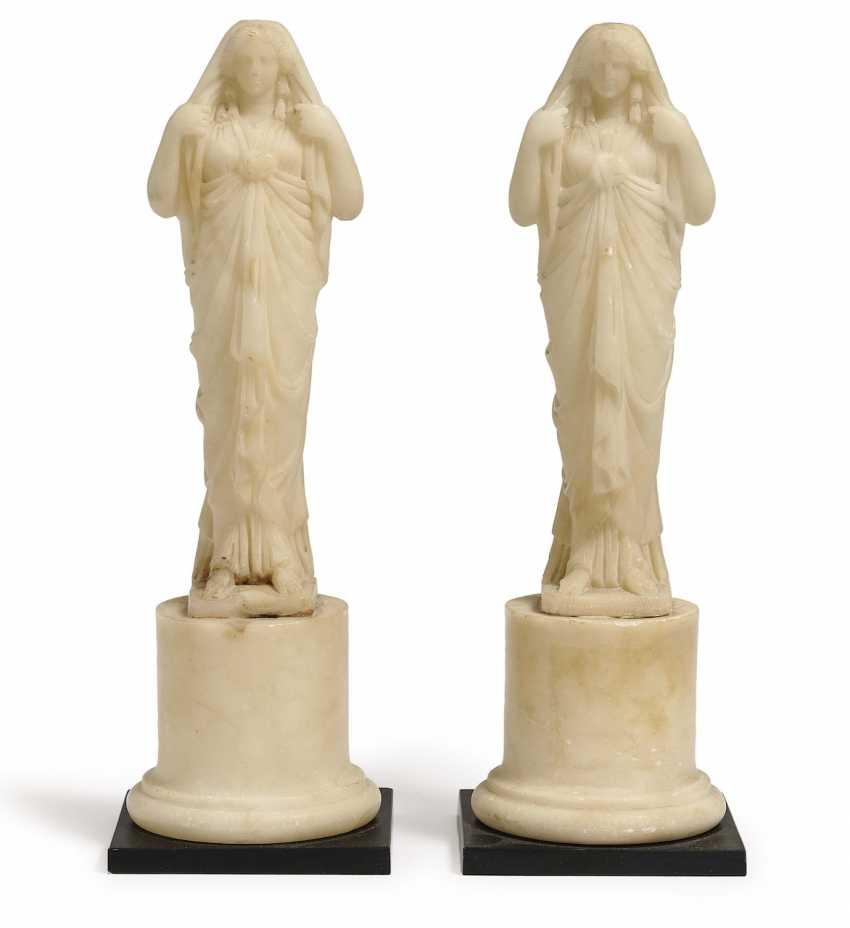 A Pair Of Caryatids. France, 19. Century - photo 1