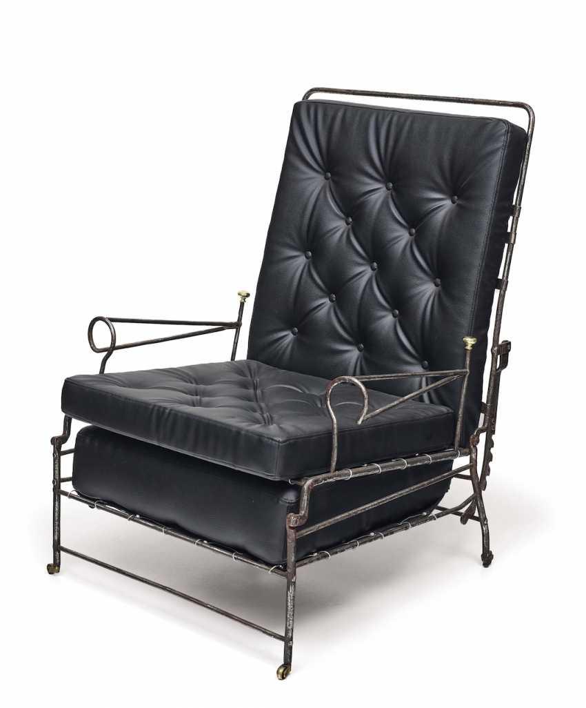 Iron armchair. France, 1. Half of the 19th century. Century - photo 1