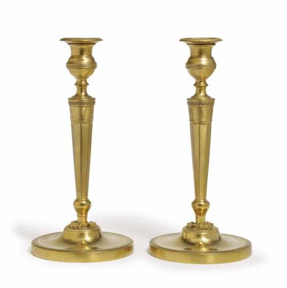 A Pair Of Candlesticks. France, 1. Half of the 19th century. Century - photo 1