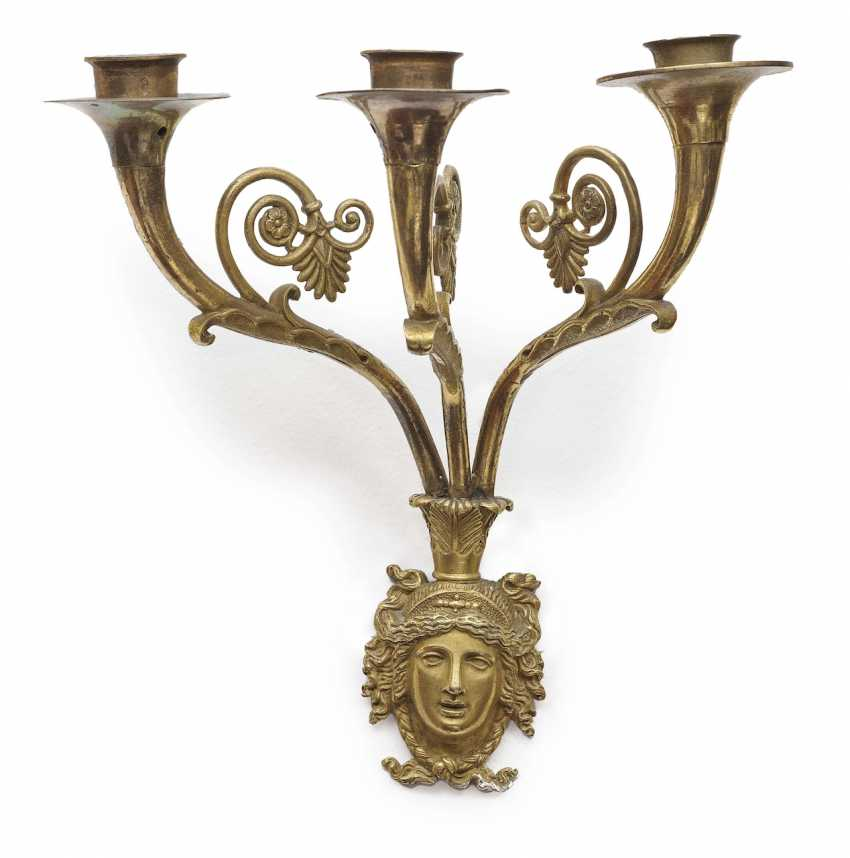 A Pair of appliques, three burner. France, 19. Century - photo 1
