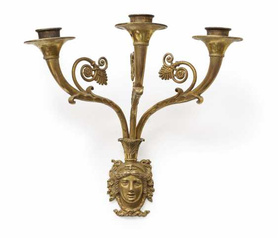 A Pair of appliques, three burner. France, 19. Century - photo 2