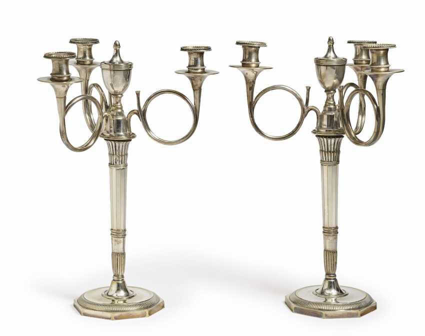 A Pair of girandoles, four burner. France, 19. Century - photo 1