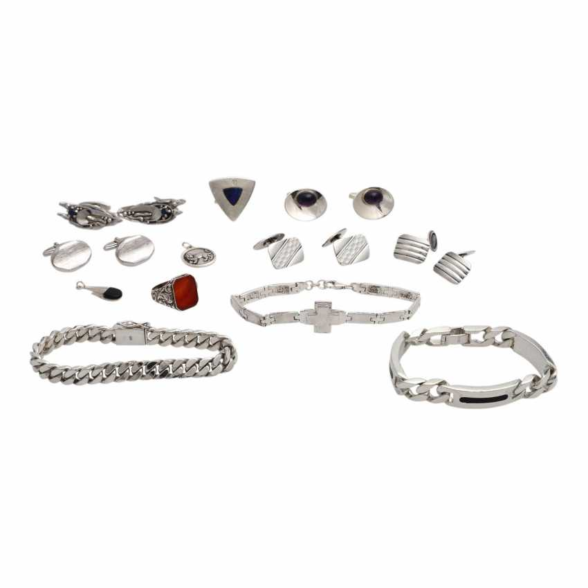 Jewelry mixed lot of 12-pieces, silver, - photo 1