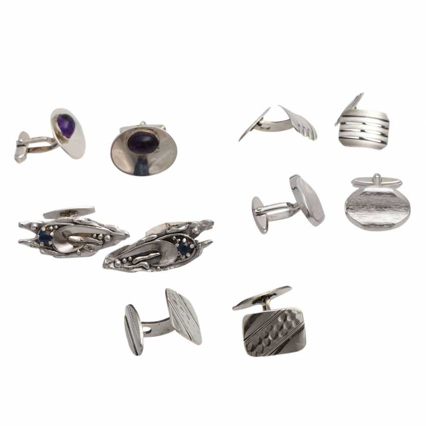 Jewelry mixed lot of 12-pieces, silver, - photo 3