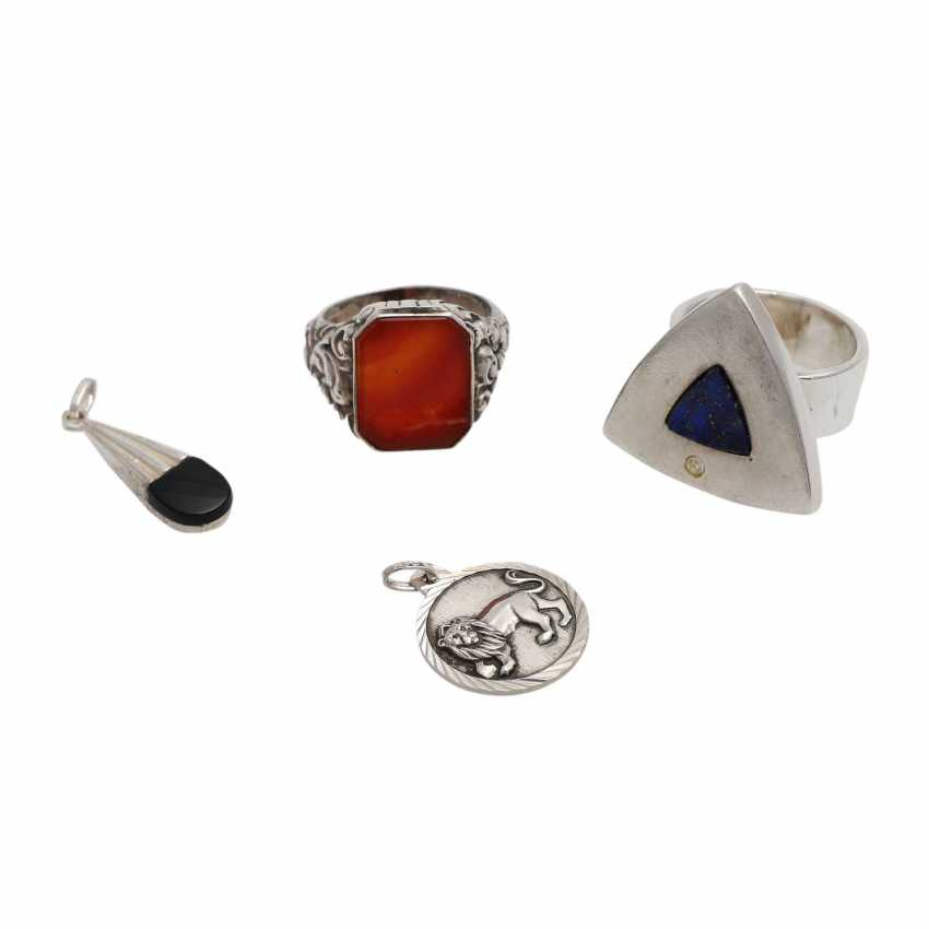 Jewelry mixed lot of 12-pieces, silver, - photo 4