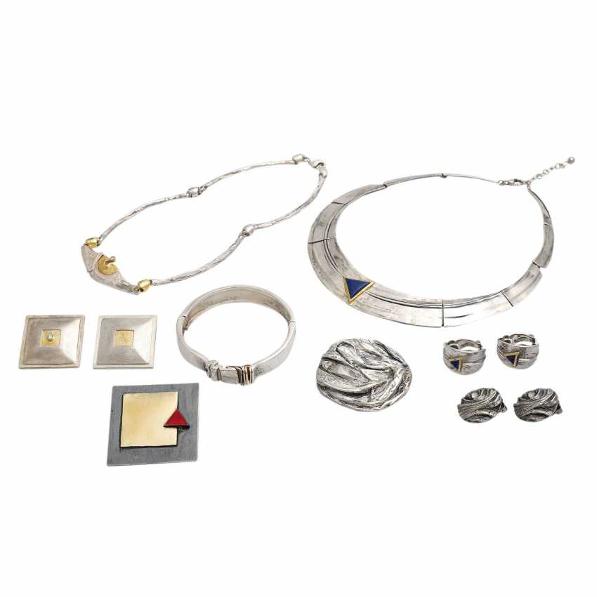 Jewelry mixed lot 8 pieces, silver, - photo 1