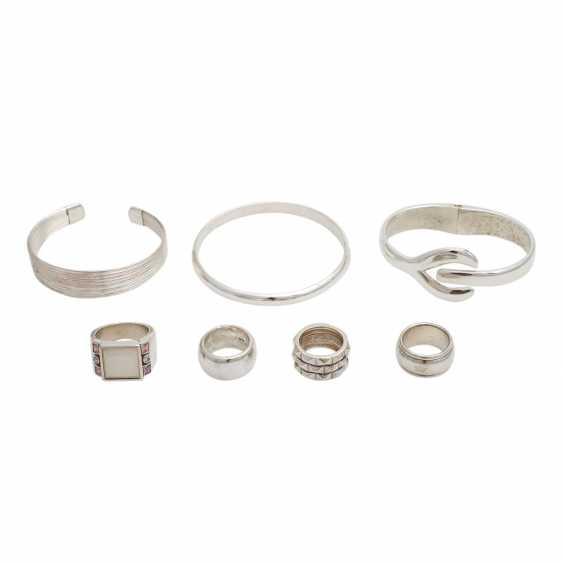 Jewelry mixed lot of 7 pieces, silver, - photo 1