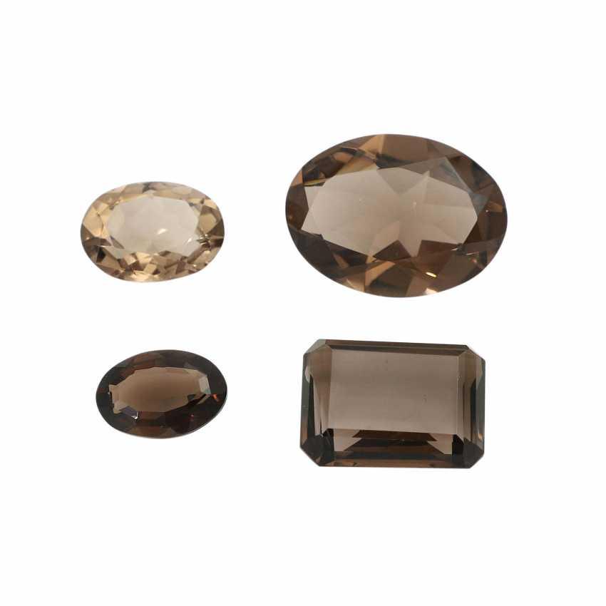 Mixed lot of gemstones: smoky quartz, 58,3 ct, - photo 1