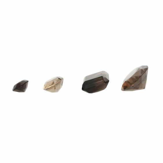 Mixed lot of gemstones: smoky quartz, 58,3 ct, - photo 2