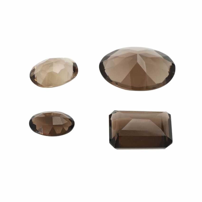 Mixed lot of gemstones: smoky quartz, 58,3 ct, - photo 3