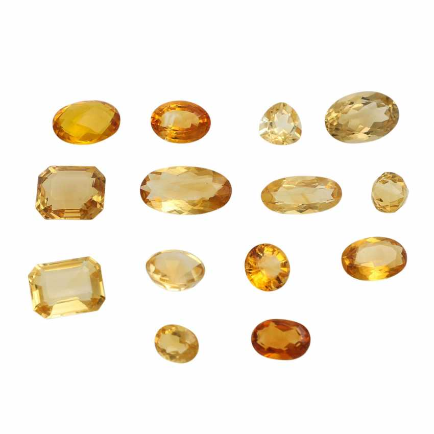 Mixed lot of gemstones: Citrine, 91,6 ct, - photo 1