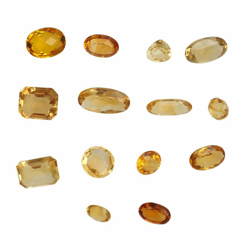 Mixed lot of gemstones: Citrine, 91,6 ct, - photo 2