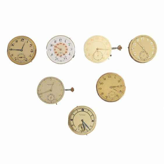 Mixed Lot Of Pocket Watch Movements, 7 Stk., - photo 1