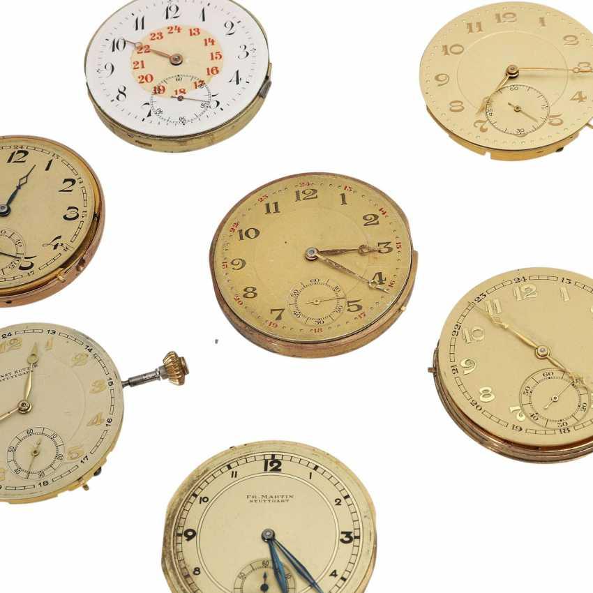 Mixed Lot Of Pocket Watch Movements, 7 Stk., - photo 2