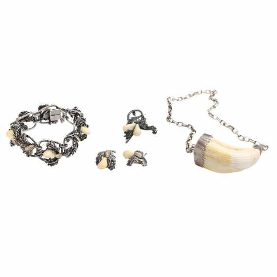 Vintage 4-piece Trachten/hunting jewelry, - photo 1