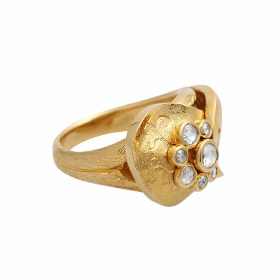 Fancy Ring with diamond roses - photo 2