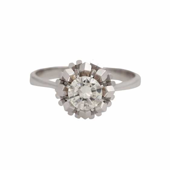 Solitaire ring with brilliant, approximately 1.1 ct, GET/VS, - photo 1