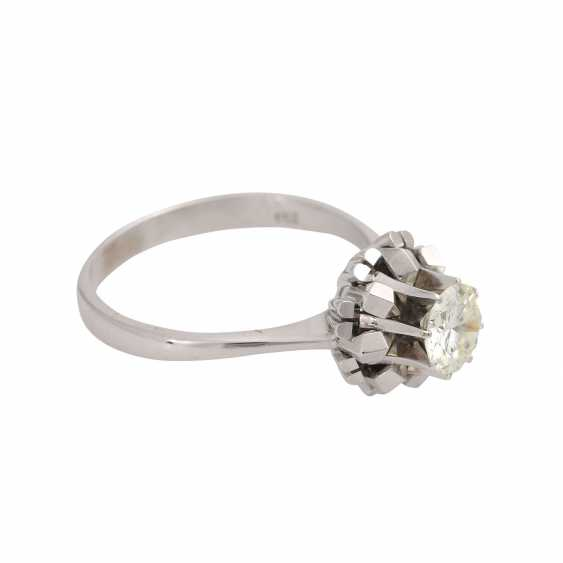 Solitaire ring with brilliant, approximately 1.1 ct, GET/VS, - photo 2