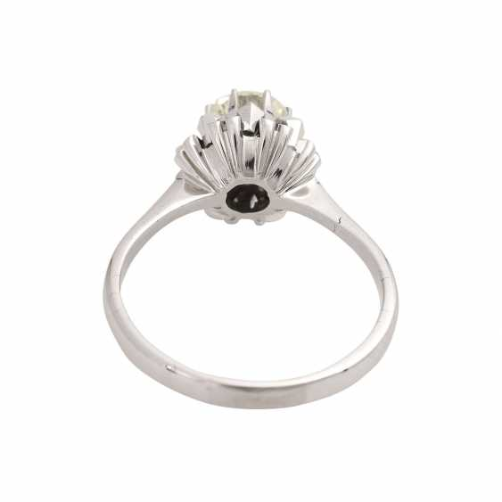 Solitaire ring with brilliant, approximately 1.1 ct, GET/VS, - photo 4