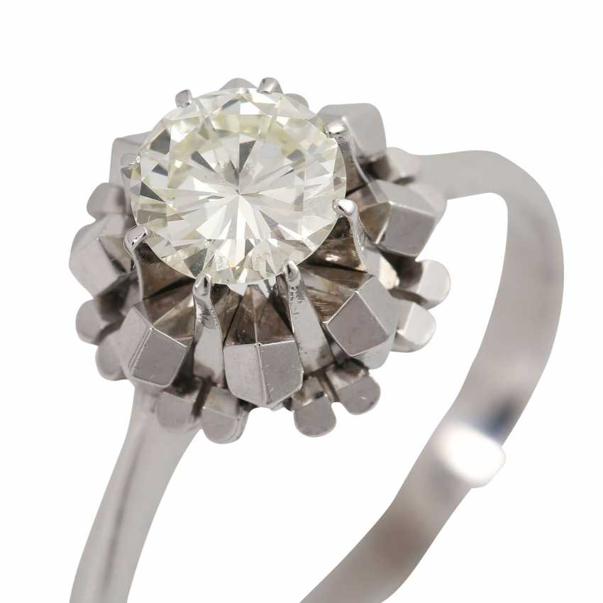 Solitaire ring with brilliant, approximately 1.1 ct, GET/VS, - photo 5
