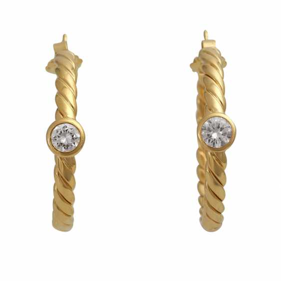 Plug-in earrings with 1 diamond of 0.3 ct - photo 2