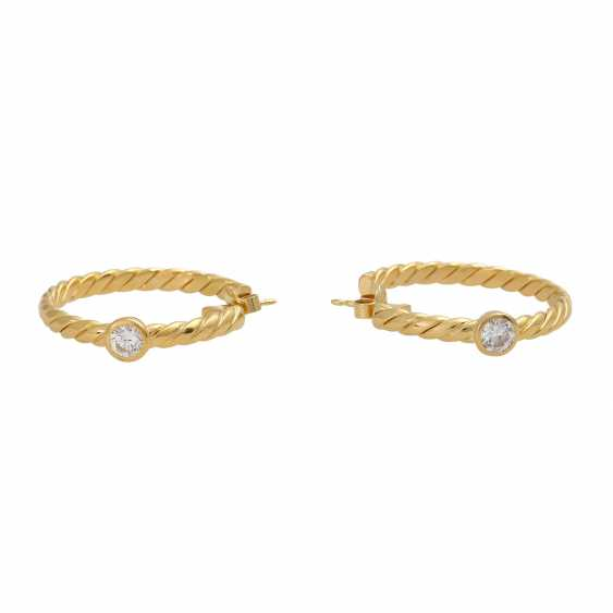 Plug-in earrings with 1 diamond of 0.3 ct - photo 3