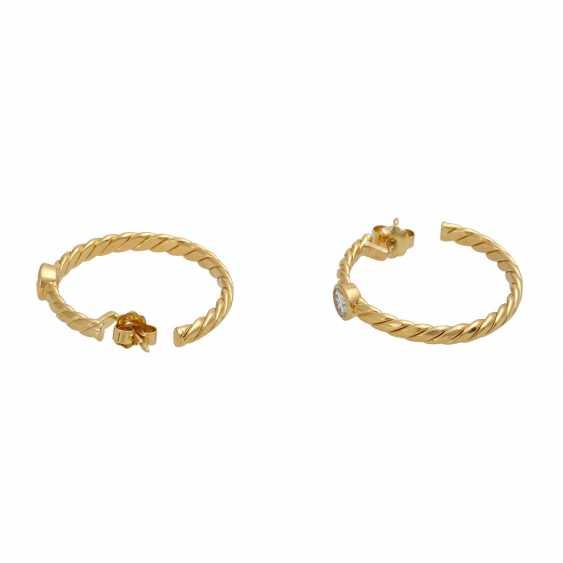 Plug-in earrings with 1 diamond of 0.3 ct - photo 4