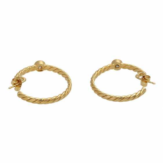Plug-in earrings with 1 diamond of 0.3 ct - photo 5