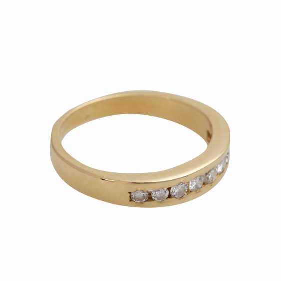 Ring with 9 brilliant-cut diamonds, together, approximately 0.3 ct, WHITE (H)/VS-SI - photo 2
