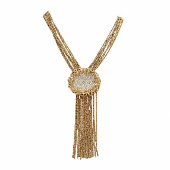 WIDE multi row fashion jewelry necklace - photo 1
