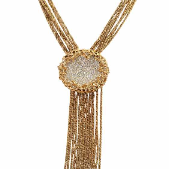WIDE multi row fashion jewelry necklace - photo 2