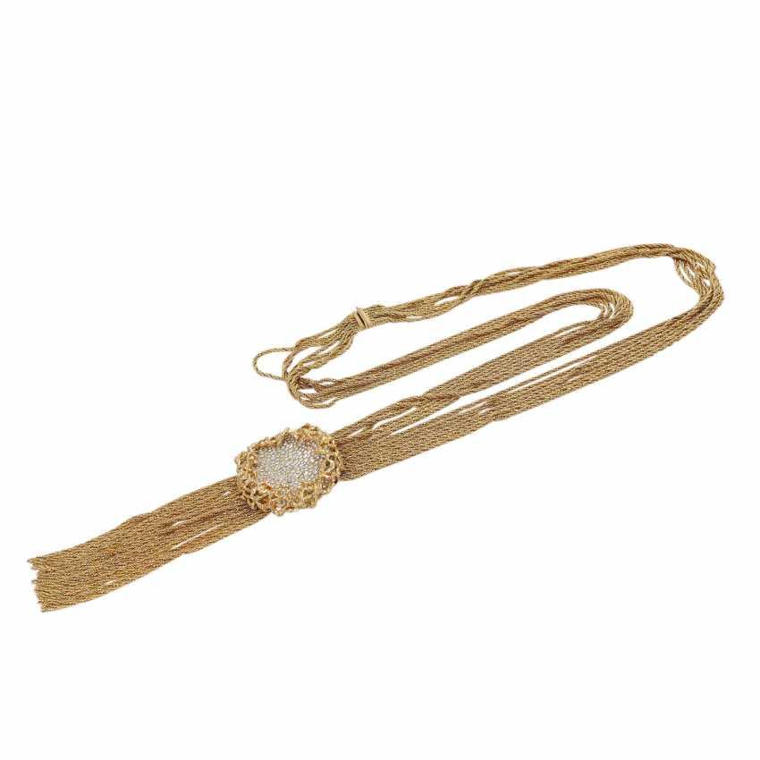 WIDE multi row fashion jewelry necklace - photo 3