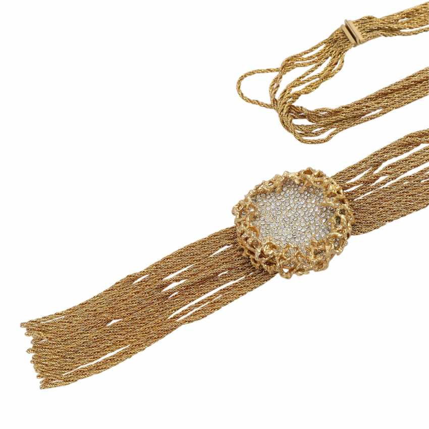 WIDE multi row fashion jewelry necklace - photo 4