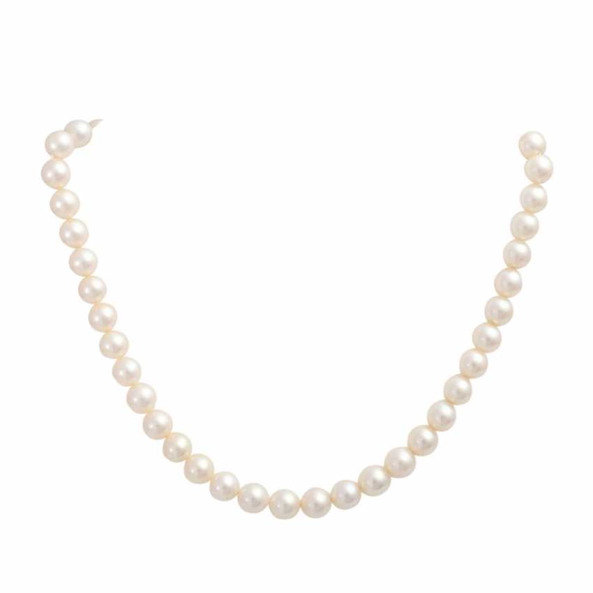Akoya pearl necklace with gem-set Central portion, - photo 1