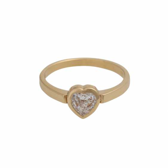 Ring mit Herzdiamant ca. 0,37 ct, - photo 1