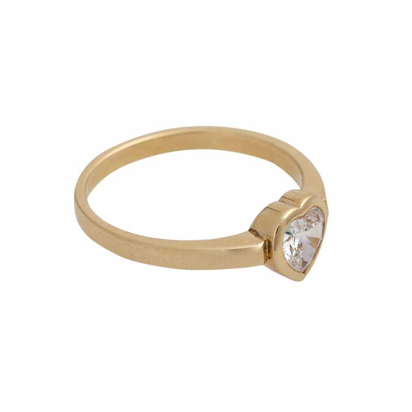 Ring mit Herzdiamant ca. 0,37 ct, - photo 2