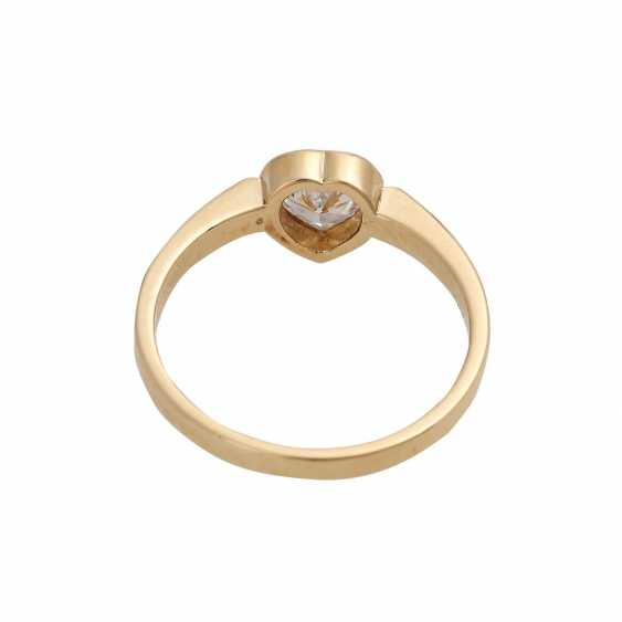 Ring mit Herzdiamant ca. 0,37 ct, - photo 4