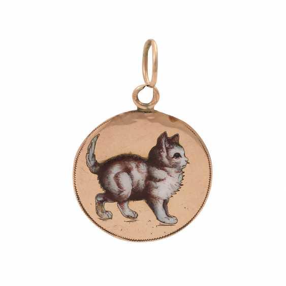 """Pendant """"cat"""" enameled, - photo 1"""