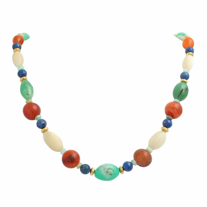 Necklace made of different precious stone elements - photo 1