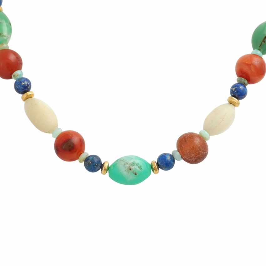 Necklace made of different precious stone elements - photo 2