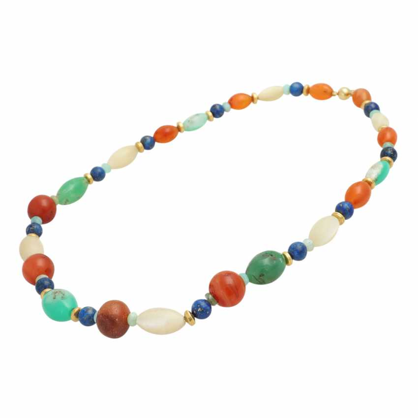 Necklace made of different precious stone elements - photo 3
